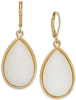 Charter Club Gold-Tone White Teardrop Earrings