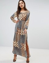 Glamorous Patchwork Maxi Dress