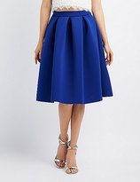 Charlotte Russe Full Pleated Scuba Skirt