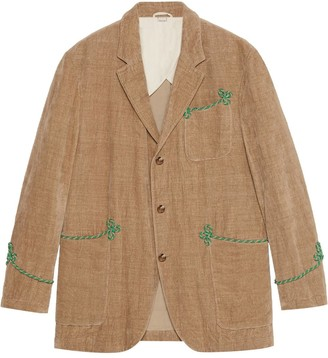 Gucci Velvet jacket with embroidery