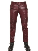 Balmain 18cm Leather Biker Trousers