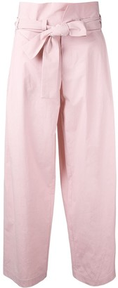 Erika Cavallini Tied High Waisted Trousers