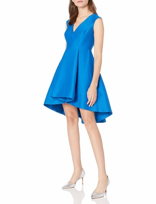 Halston Women's V-Neck Fit and Flare Dress