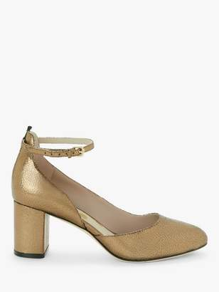 Boden Yasmin Leather Mid Heel Court Shoes, Bronze