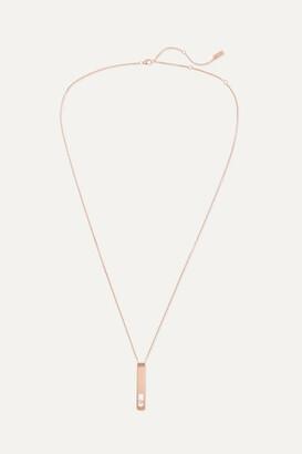Messika My First Diamond 18-karat Rose Gold Diamond Necklace - one size
