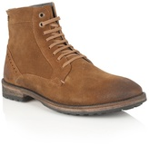 Frank Wright Rust Suede ' Acton' Lace Up Boots