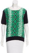 Sandro Animal Print Knit Top
