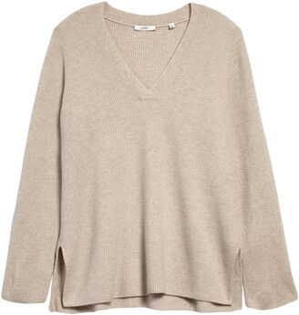 Vince Rib Wool & Cashmere Tunic Sweater