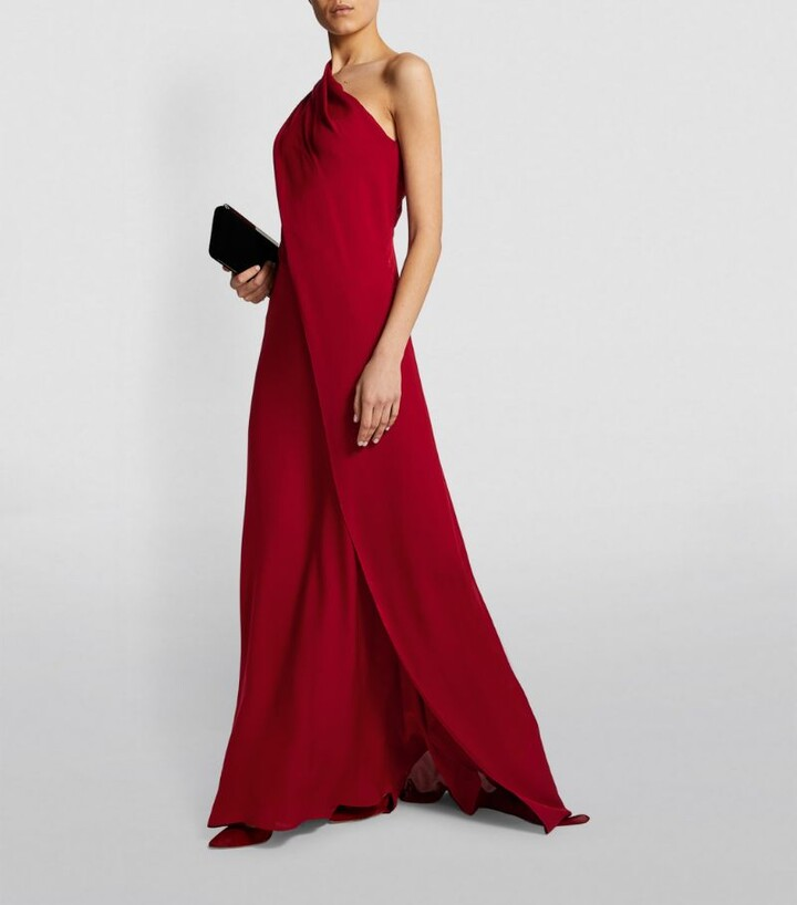Thumbnail for your product : Roland Mouret One-Shoulder Taishan Gown