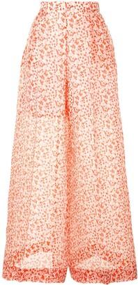 DELPOZO Polka-Dot Print Wide-Leg Trousers