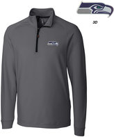 Cutter & Buck Men's Seattle Seahawks 3D Emblem Jackson Overknit Quarter-Zip Pullover