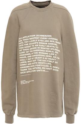 Rick Owens Printed Cotton-fleece Sweatshirt