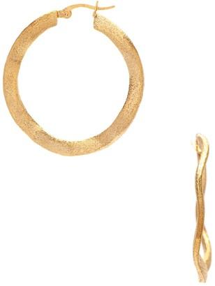 Rivka Friedman 18K Goldplated Wavy Hoop Earrings