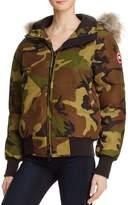 Canada Goose Savona Fur Trim Down Bomber Jacket