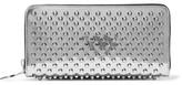 Christian Louboutin Panettone Spiked Metallic Patent-leather Continental Wallet - Silver