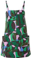 Tomas Maier Napoli Printed Cotton-poplin Mini Dress - Green