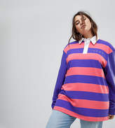 Puma Exclusive To ASOS Plus Striped Rugby Jersey