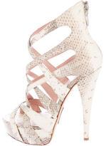 Alejandro Ingelmo Snakeskin Platform Sandals