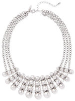New York & Co. 3-Row Silvertone Bib Necklace