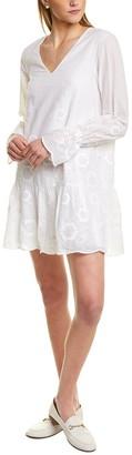 Sail to Sable Embroidered Mini Dress