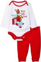 Candlesticks Rudolph Best Gift Ever Bodysuit & Pant Set (Baby Boys)