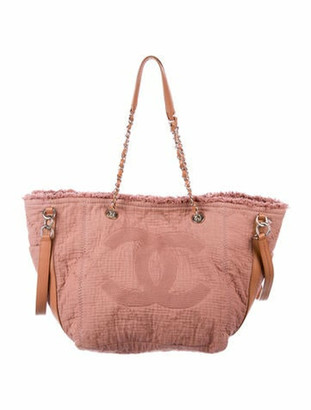 Chanel 2018 Small Double Face Shopping Tote Mauve
