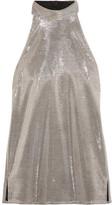 Pallas Sharon Lamé Halterneck Top - Silver