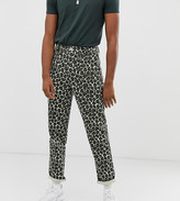 Asos DESIGN Tall fatigue pants in washed animal print