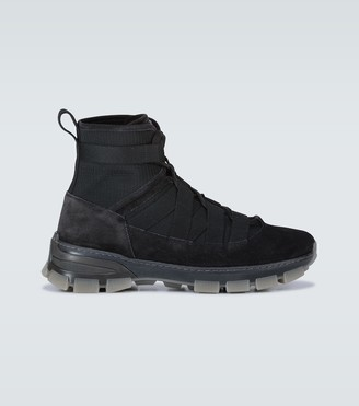 Loewe Suede-trimmed hiking boots