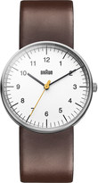 Braun BN0021WHBRG stainless steel and leather watch