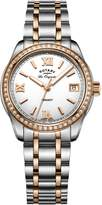 Rotary Watches Women's Legacy Two Tone Rose Gold Stainless Steel Bracelet Watch LB90175/01