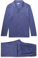 Derek Rose Bari Cotton-Jacquard Pyjama Set