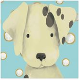 Oopsy Daisy Fine Art For Kids Radley the Dalmation Canvas Wall Art in Blue