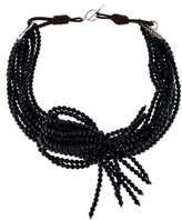 Brunello Cucinelli Onyx & Leather Necklace