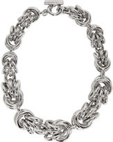 Alexander Wang Silver Knot Necklace