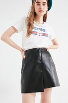 Urban Outfitters Faux Leather Wrap Mini Skirt