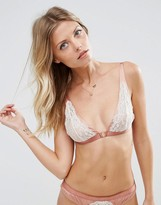 Asos Valerie High Apex Satin & Lace Triangle Bra