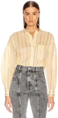Etoile Isabel Marant Satchell Shirt in Light Yellow | FWRD