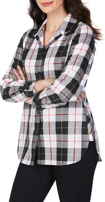 Foxcroft Pandora Sinclair Tartan Wrinkle-Free Tunic Shirt