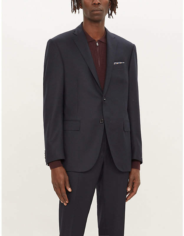 Corneliani Single-breasted regular-fit wool blazer