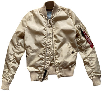 Alpha Industries Beige Synthetic Jackets