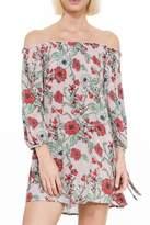 En Creme Floral Dress