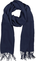 Mila Schon Midnight Blue Wool and Cashmere Stole