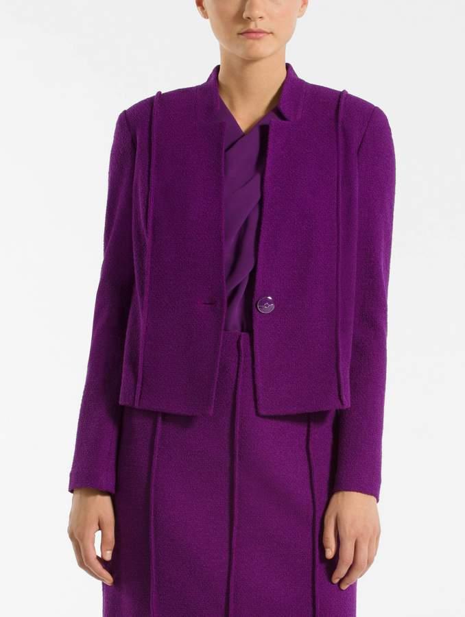 St. John Ana Boucle Knit Notch Collar Jacket