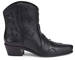 Miu Miu Women's Leather Cowboy Boots