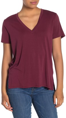 Lush V-Neck Short Sleeve T-Shirt
