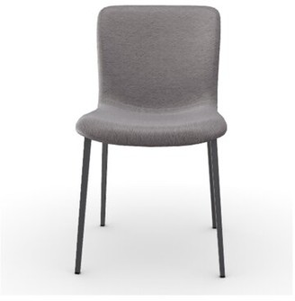 Calligaris Annie Upholstered Metal Side Chair Color: Taupe, Frame Color: Matte Gray