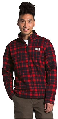 The North Face Gordon Lyons Novelty 1/4 Zip (TNF Red Heritage 2 Plaid Print) Men's Clothing