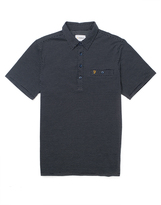 Farah Short Sleeve Jersey Polo Shirt with Textured Front