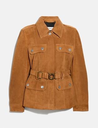 Coach Suede Belted Heritage Jacket